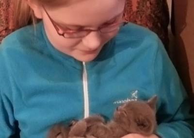 Pause douceur : dans les bras de ma fille ! (Femelle à collier jaune)