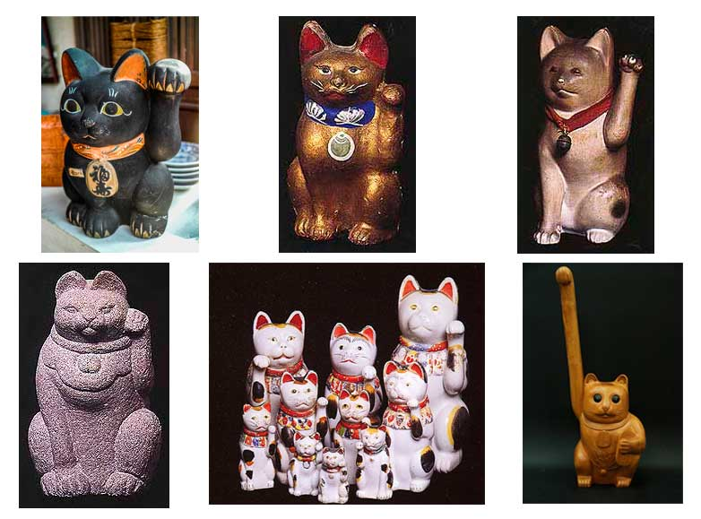 Maneki-neko anciens, de collection