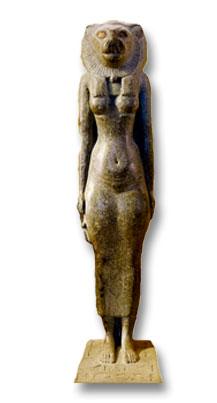 Statuette de Bestet avec tête de lion (musée du Louvres)
