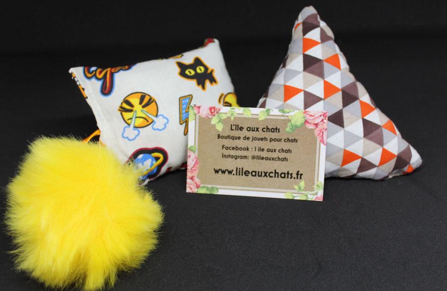 L'Ile aux chats, jouets pour chats faits main à la valériane - Blog Entre Chats