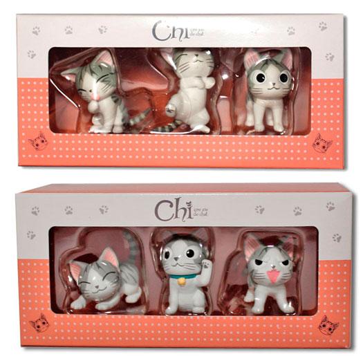 Idées Cadeaux : figurines Chi, une vie de chat. Boite de 3