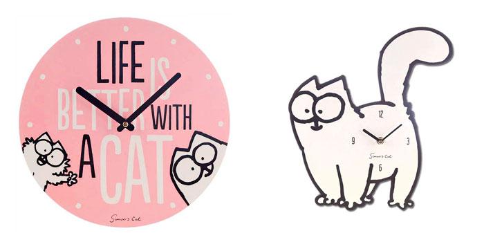 Idées cadeau de noël : horloge chat Simon's Cat