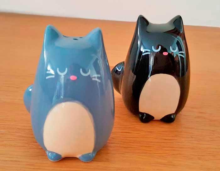 Salière et poivrière Chat